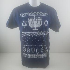 Hanukah mens short sleeves tshirt graphic size L